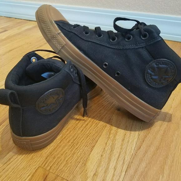 Black Converse Gum Sole